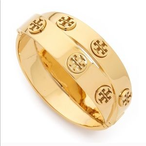 Tory Burch Metal Logo Double-Wrap Bracelet